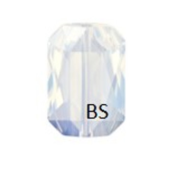 Swarovski 5515 White Opal Emerald-Cut Bead 14x9.5mm