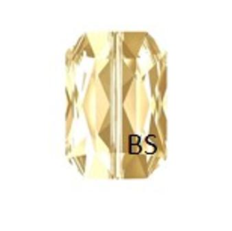 Swarovski 5515 Crystal Golden Shadow Emerald-Cut Bead 14x9.5mm