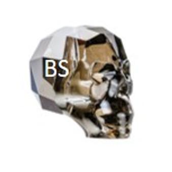 13mm Swarovski 5750 Crystal Silvernight Skull Bead