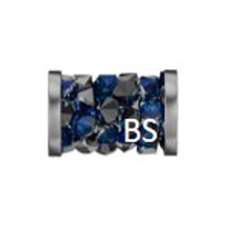 8mm Swarovski 5950 Bermuda blue Fine Rocks Tube Beads with Stainless Steel Finishing