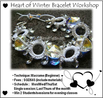 Heart of Winter Bracelet Workshop