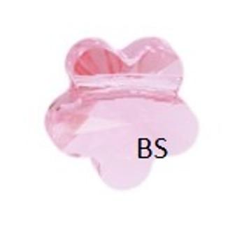 Swarovski 5744 Flower Bead Light Rose 8mm
