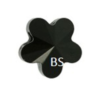 Swarovski 5744 Flower Bead Jet 6mm