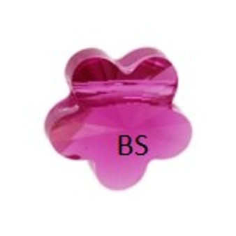 Swarovski 5744 Flower Bead Fuchsia 6mm