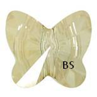 Swarovski 5754 Butterfly Bead Crystal Golden Shadow 5mm