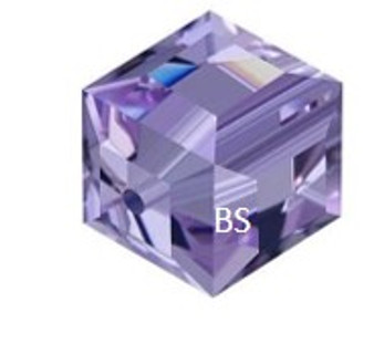 Swarovski 5601 Square Bead Tanzanite 6mm
