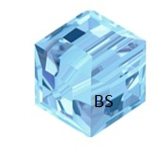 Swarovski 5601 Square Bead Aquamarine 6mm