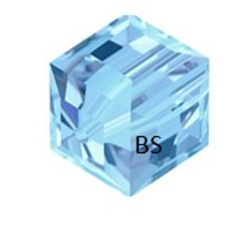 Swarovski 5601 Square Bead Aquamarine 6mm