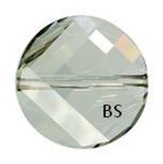Swarovski 5621 Twist Bead Crystal Silvershade 14mm