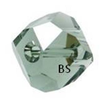 Swarovski 5603 Graphic Cube Bead Black Diamond 4mm