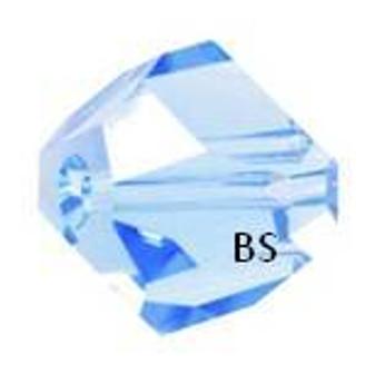 Swarovski 5603 Graphic Cube Bead Aquamarine 6mm