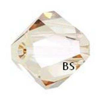 Swarovski 5603 Graphic Cube Bead Crystal Golden Shadow 6mm