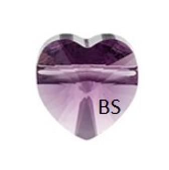 Swarovski 5742 Heart Bead Amethyst 8mm