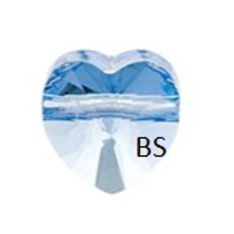 Swarovski 5742 Heart Bead Aquamarine 8mm