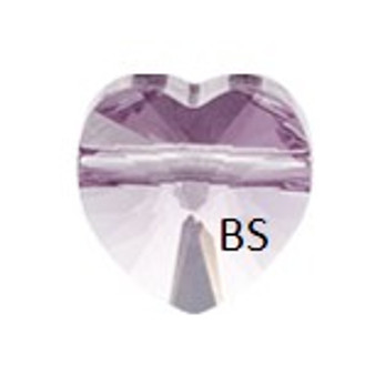 Swarovski 5742 Heart Bead Light Amethyst 8mm