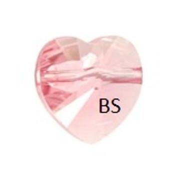 Swarovski 5742 Heart Bead Light Rose 8mm