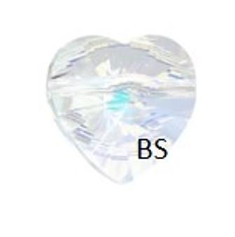 Swarovski 5742 Heart Bead Crystal AB 8mm