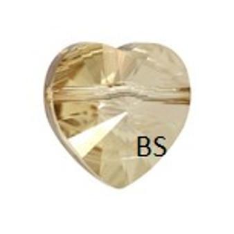 Swarovski 5742 Heart Bead Crystal Golden Shadow 8mm