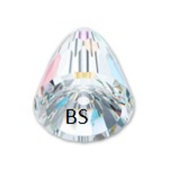 Swarovski 5541 Dome Bead Large Crystal AB 15mm