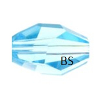 Swarovski 5203 Polygon Bead Aquamarine 12x8mm