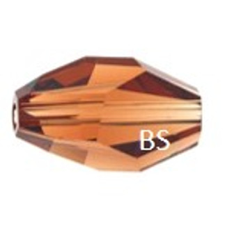Swarovski 5203 Polygon Bead Smoked Topaz 12x8mm