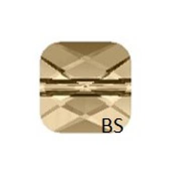 Swarovski 5053 Mini Square Bead Crystal Golden Shadow 8mm