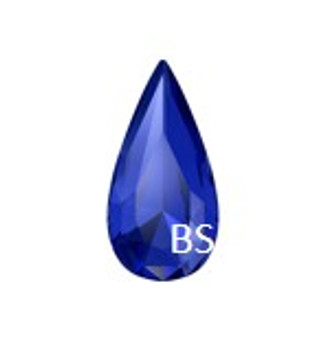 Swarovski 4322 Majestic Blue 30x15mm Teardrop Fancy Stone