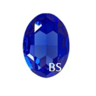 Swarovski 4127 Majestic Blue 30x22mm Big Oval Fancy Stone
