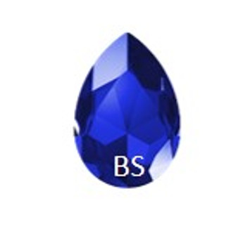 Swarovski 4327 Majestic Blue 30x20mm Large Pear Fancy Stone