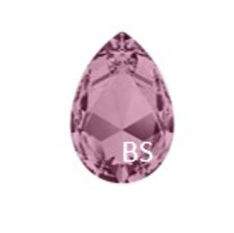 Swarovski 4327 Crystal Antique Pink 30x20mm Large Pear Fancy Stone