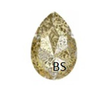 Swarovski 4327 Crystal Gold Patina 30x20mm Large Pear Fancy Stone