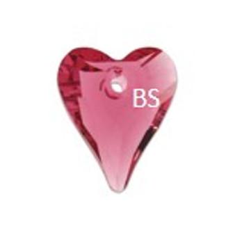 Swarovski 6240 Wild Heart Pendant Indian Pink 12mm