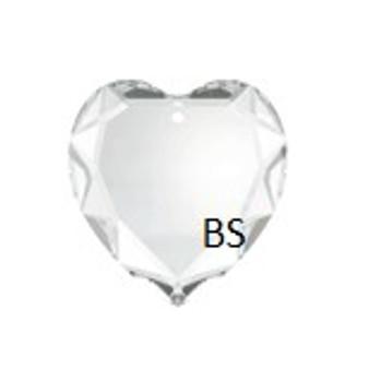 Swarovski 6225 Flat Heart Pendant Crystal 28mm