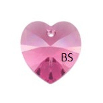 Swarovski 6228 Xilion Heart Pendant Rose 10.3x10mm