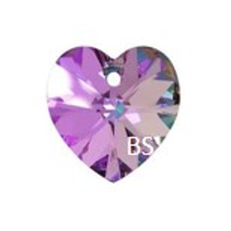 Swarovski 6228 Xilion Heart Pendant Crystal Vitrail Light 10.3x10mm