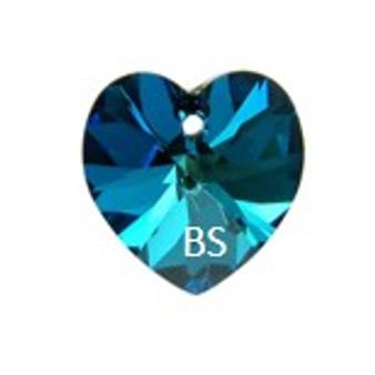 Swarovski 6228 Xilion Heart Pendant Bermuda Blue 14.4x14mm