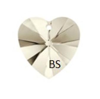 Swarovski 6228 Xilion Heart Pendant Crystal Silvershade 14.4x14mm
