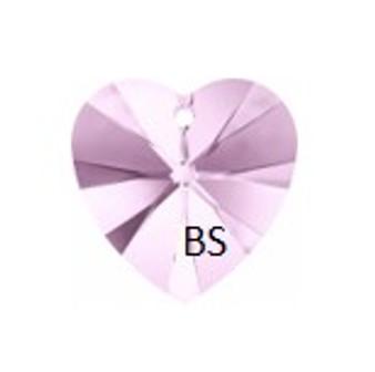 Swarovski 6228 Xilion Heart Pendant Rosaline 28mm