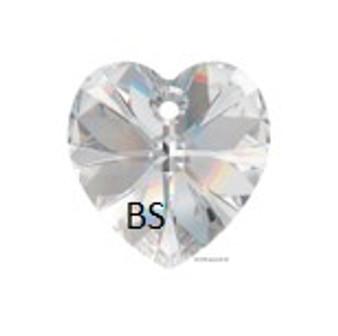 Swarovski 6228 Xilion Heart Pendant Crystal 28mm