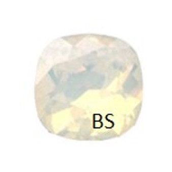 10mm Swarovski 4470 White Opal Cushion Square