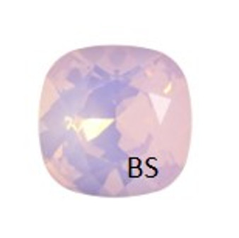 10mm Swarovski 4470 Rose Water Opal Cushion Square