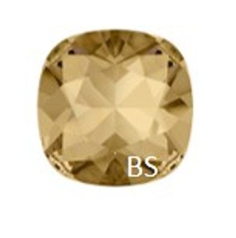 10mm Swarovski 4470 Crystal Golden Shadow Cushion Square