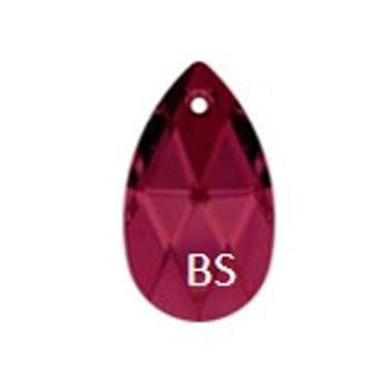16mm Swarovski 6106 Ruby Pear Pendant