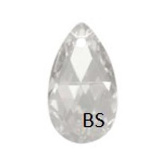 16mm Swarovski 6106 Crystal Silvershade Pear Pendant