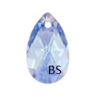 16mm Swarovski 6106 Light Sapphire Shimmer Pear Pendant