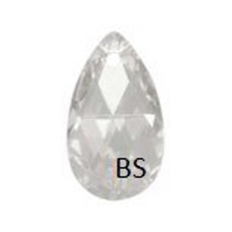 28mm Swarovski 6106 Crystal Silvershade Pear Pendant