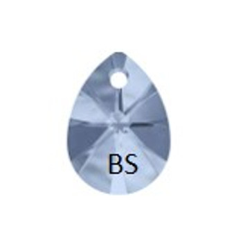 10mm Swarovski 6128 Denim Blue Mini Pear Pendant