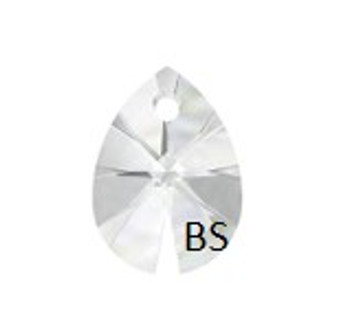 12mm Swarovski 6128 Crystal Mini Pear Pendant