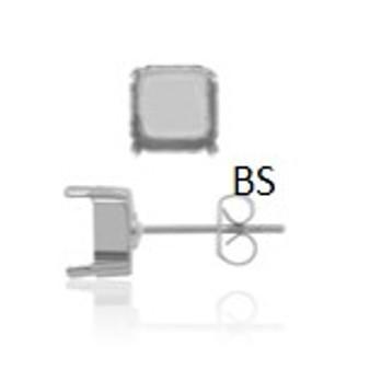 Swarovski 4480 Rhodium Plating Earring Stud 8mm