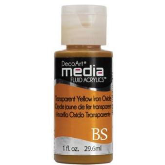 DecoArt Media Fluid Acrylics - Transparent Yellow Iron Oxide